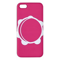 Circle White Pink Iphone 5s/ Se Premium Hardshell Case by Mariart