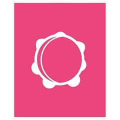 Circle White Pink Drawstring Bag (small) by Mariart