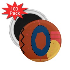 Digital Music Is Described Sound Waves 2 25  Magnets (100 Pack)  by Mariart