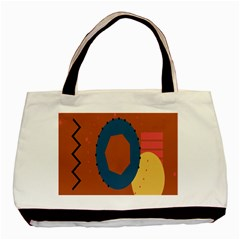 Digital Music Is Described Sound Waves Basic Tote Bag by Mariart