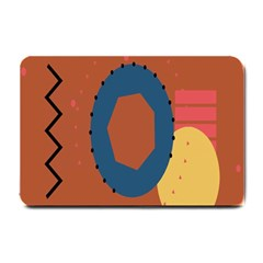 Digital Music Is Described Sound Waves Small Doormat  by Mariart