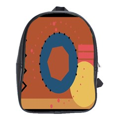 Digital Music Is Described Sound Waves School Bags (xl)  by Mariart