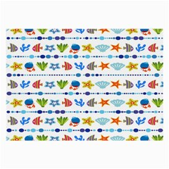 Coral Reef Fish Coral Star Large Glasses Cloth by Mariart