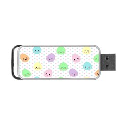 Egg Easter Smile Face Cute Babby Kids Dot Polka Rainbow Portable Usb Flash (one Side) by Mariart