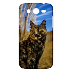 Adult Wild Cat Sitting And Watching Samsung Galaxy Mega 5 8 I9152 Hardshell Case  by dflcprints