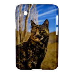 Adult Wild Cat Sitting And Watching Samsung Galaxy Tab 2 (7 ) P3100 Hardshell Case  by dflcprints