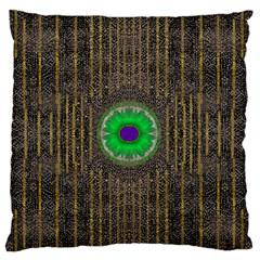 In The Stars And Pearls Is A Flower Large Flano Cushion Case (one Side) by pepitasart