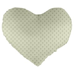 Dots Large 19  Premium Flano Heart Shape Cushions by Valentinaart