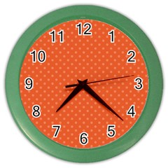 Dots Color Wall Clocks by Valentinaart