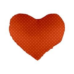 Dots Standard 16  Premium Flano Heart Shape Cushions by Valentinaart
