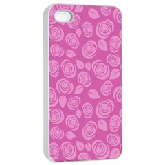 Floral Pattern Apple Iphone 4/4s Seamless Case (white) by Valentinaart
