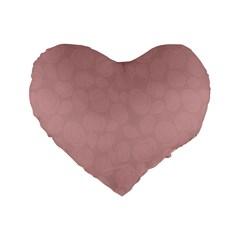 Floral Pattern Standard 16  Premium Flano Heart Shape Cushions by Valentinaart