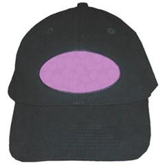 Floral Pattern Black Cap by Valentinaart