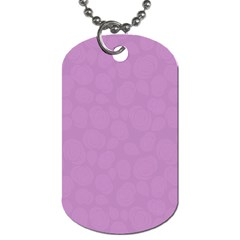 Floral Pattern Dog Tag (two Sides) by Valentinaart