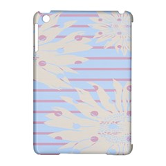 Flower Floral Sunflower Line Horizontal Pink White Blue Apple Ipad Mini Hardshell Case (compatible With Smart Cover) by Mariart