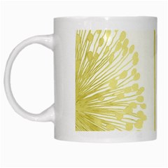 Flower Floral Yellow White Mugs by Mariart