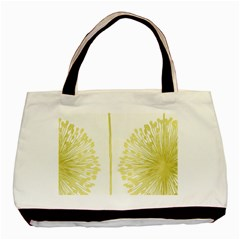 Flower Floral Yellow Basic Tote Bag (two Sides) by Mariart