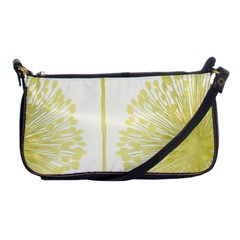 Flower Floral Yellow Shoulder Clutch Bags by Mariart