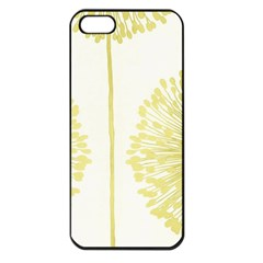 Flower Floral Yellow Apple Iphone 5 Seamless Case (black) by Mariart