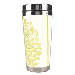 Flower Floral Yellow Stainless Steel Travel Tumblers by Mariart