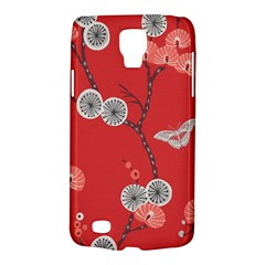 Dandelions Red Butterfly Flower Floral Galaxy S4 Active by Mariart