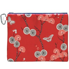 Dandelions Red Butterfly Flower Floral Canvas Cosmetic Bag (xxxl) by Mariart