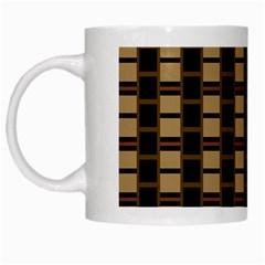 Geometric Shapes Plaid Line White Mugs by Mariart