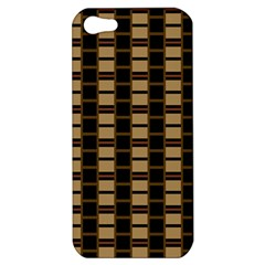 Geometric Shapes Plaid Line Apple Iphone 5 Hardshell Case by Mariart