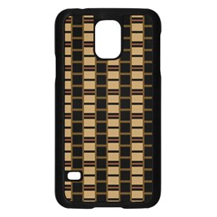 Geometric Shapes Plaid Line Samsung Galaxy S5 Case (black) by Mariart