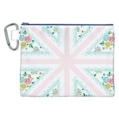 Frame Flower Floral Sunflower Line Canvas Cosmetic Bag (xxl) by Mariart