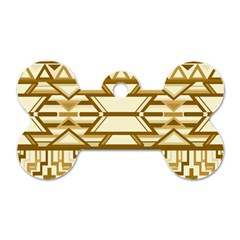 Geometric Seamless Aztec Gold Dog Tag Bone (one Side) by Mariart