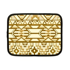 Geometric Seamless Aztec Gold Netbook Case (small)  by Mariart