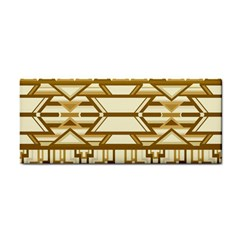 Geometric Seamless Aztec Gold Cosmetic Storage Cases by Mariart