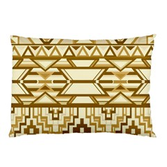 Geometric Seamless Aztec Gold Pillow Case by Mariart
