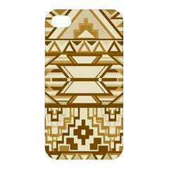 Geometric Seamless Aztec Gold Apple Iphone 4/4s Premium Hardshell Case by Mariart