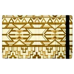 Geometric Seamless Aztec Gold Apple Ipad 3/4 Flip Case by Mariart