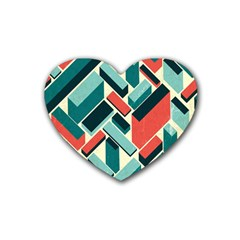 German Synth Stock Music Plaid Rubber Coaster (heart)  by Mariart