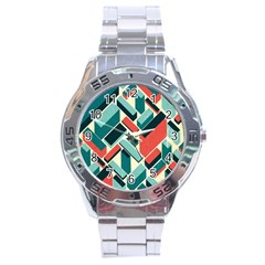 German Synth Stock Music Plaid Stainless Steel Analogue Watch by Mariart