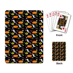 Ghost Pumkin Craft Halloween Hearts Playing Card by Mariart
