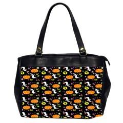 Ghost Pumkin Craft Halloween Hearts Office Handbags (2 Sides)  by Mariart