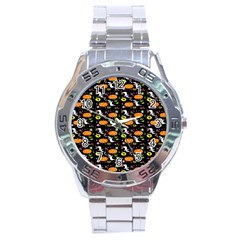 Ghost Pumkin Craft Halloween Hearts Stainless Steel Analogue Watch by Mariart