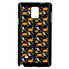 Ghost Pumkin Craft Halloween Hearts Samsung Galaxy Note 4 Case (black) by Mariart