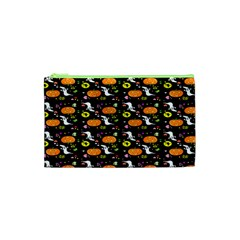 Ghost Pumkin Craft Halloween Hearts Cosmetic Bag (xs) by Mariart