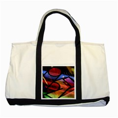 Graphic Shapes Experimental Rainbow Color Two Tone Tote Bag by Mariart