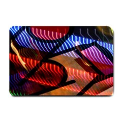 Graphic Shapes Experimental Rainbow Color Small Doormat  by Mariart