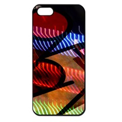 Graphic Shapes Experimental Rainbow Color Apple Iphone 5 Seamless Case (black) by Mariart
