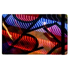 Graphic Shapes Experimental Rainbow Color Apple Ipad 2 Flip Case by Mariart