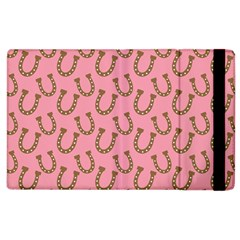 Horse Shoes Iron Pink Brown Apple Ipad 3/4 Flip Case by Mariart