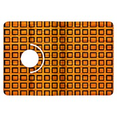 Halloween Squares Plaid Orange Kindle Fire Hdx Flip 360 Case by Mariart
