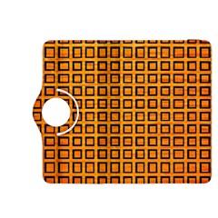 Halloween Squares Plaid Orange Kindle Fire Hdx 8 9  Flip 360 Case by Mariart